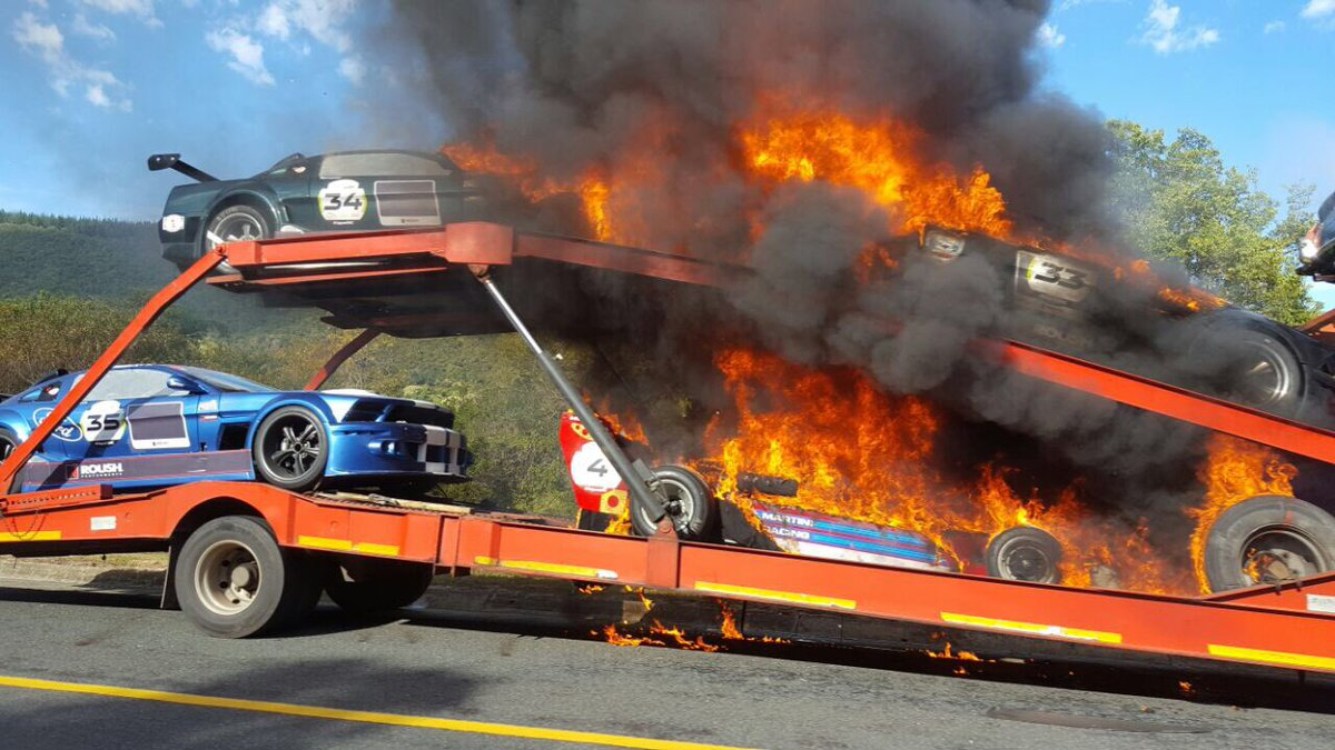 Following Reports Of A Vehicle Transporter Catching Fire On The N2 Near  George This Morning, The Organisers Of The Jaguar Simola Hillclimb Can  Confirm That ...