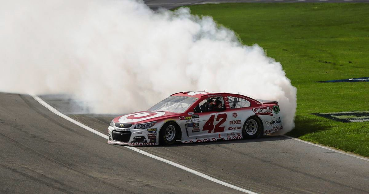 Nascar michigan 2017 results kyle larson wins firekeepers for Larson motors used cars